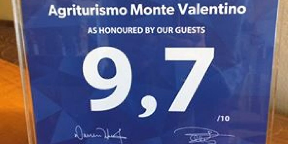 Promosso a pieni voti l'Agriturismo Monte Valentino!