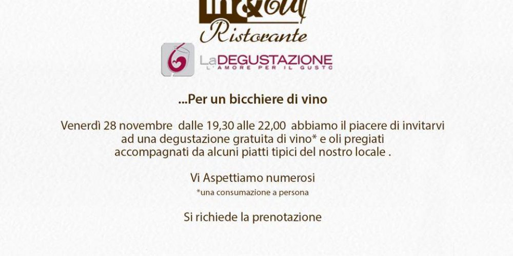 … Per un bicchiere di vino – Venerdì 28 novembre 2014 ore 19,30 – 22.00